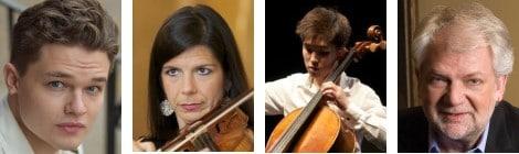 Dennis Chmelensky (Bariton), Pamela Frank (Violine), Chase Park (Violoncello), Mikael Eliasen (Klavier)