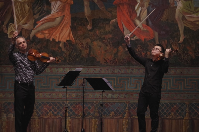 »Frühe Meisterschaft«, 23.09.2019. Benjamin Schmid und Ziyu He (Foto: Christine Tröger)