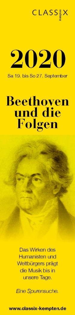 CLASSIX Kempten 2020 Lesezeichen Beethoven