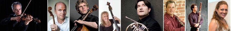 Benjamin Schmid (Violine), Thomas Selditz (Viola), Andreas Brantelid (Violoncello), Christine Hoock (Kontrabass), Hervé Joulain (Horn), Ib Hausmann (Klarinette), Philipp Tutzer (Fagott), Ariane Haering (Klavier)