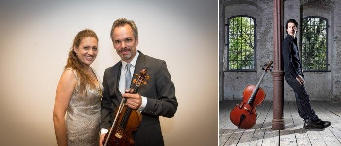 Ariane Haering (Klavier), Benjamin Schmid (Violine), Matthias Bartholomey (Violoncello) (© Foto: privat und Teresa Zötl)