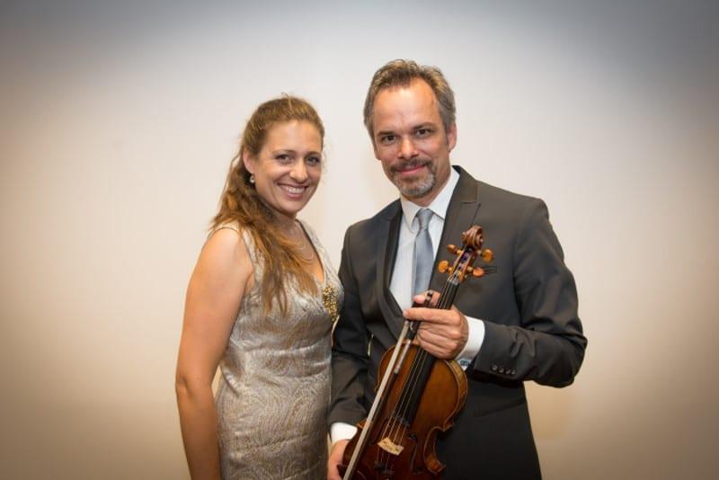 Ariane Haering (Klavier) und Benjamin Schmid (Violine)