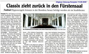 Allgäuer Zeitung, 13.08.2020