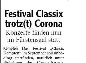 Allgäuer Zeitung, 12.08.2020