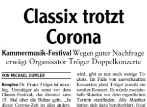 Allgäuer Zeitung, 08.09.2020